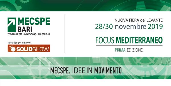 Pronti,partenza… via al MECSPE! Bari 28 / 30 novembre 2019